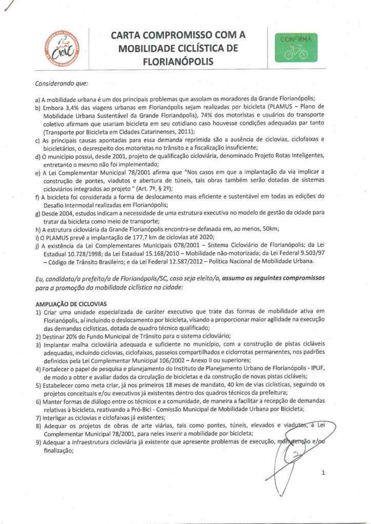 Carta Compromisso Assinada 2016 - Gean Loureiro- p1